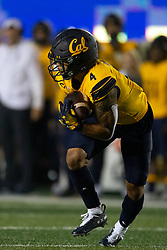California punt returner Nikko Remigio (4) catches a punt from Nevada during the second quarter of an NCAA college football game, Saturday, Sept. 4, 2021, in Berkeley, Calif. (AP Photo/D. Ross Cameron)