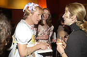 Grayson Perry and Sonja Harms, Grayson Perry by Wendy Jones launch party. Leighton House. Holland Park. London. 17 January 2006. January 2006.  ONE TIME USE ONLY - DO NOT ARCHIVE  © Copyright Photograph by Dafydd Jones 66 Stockwell Park Rd. London SW9 0DA Tel 020 7733 0108 www.dafjones.com