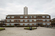 The Carpenters Estate on 25th February 2016 in East London, United Kingdom. The Carpenters Estate is a council housing estate in Stratford, East London which the Mayor of Newham has earmarked for demolition and redevelopment. It is adjacent to the main site for the 2012 Olympics.
