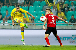 August 3, 2017 - Ljubljana, Slovenia, Slovenia - Philipp Lienhart of SC Freiburg and Lovro Bizjak of NK Domzale battle for the ball during the UEFA Europa League Third Qualifying Round match between SC Freibur and NK Domzale at Arena Stozice on 3 rd August , 2017 in Ljubljana, Slovenia. (Credit Image: © Damjan Zibert/NurPhoto via ZUMA Press)