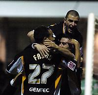 Photo: Olly Greenwood.<br />Colchester United v Hull City. Coca Cola Championship. 28/11/2006. Hull's Nick Forster celebrates scoring