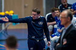 Trainer/coach Arjan Taaij in action during the second final league match between Amysoft Lycurgus vs. Draisma Dynamo on April 24, 2021 in Groningen.