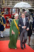 Prinsjesdag - Koninklijke familie arriveert bij Ridderzaal<br /> <br /> Budget Day - Royal Family arrives at Knights<br /> <br /> Op de foto / On the photo:  rins Constantijn en Prinses Laurentien / Prince Constantijn and Princess Laurentien