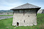 The old fortress in the historic town of Jajce, Bosnia and Herzegovina. Pictured here, the late 18th century gunpowder magazine. © Rudolf Abraham