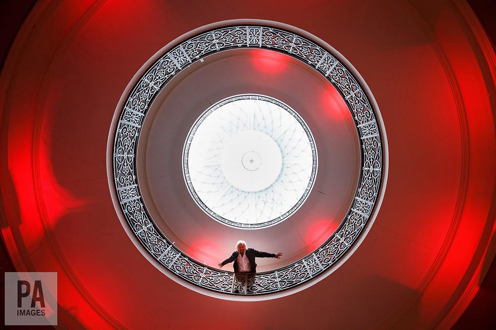 Sir Richard Branson in the Rotunda during the Virgin Hotels groundbreaking event at India Buildings, Edinburgh.