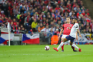 Raheem Sterling of England and Pavel Kaderabek of Czech Republic during the UEFA European 2020 Qualifier match between England and Czech Republic at Wembley Stadium, London, England on 22 March 2019.