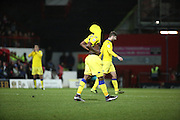 Leeds United striker Souleymane Doukara after missing a chance during the Sky Bet Championship match between Brentford and Leeds United at Griffin Park, London, England on 26 January 2016. Photo by Matthew Redman.