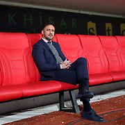 Fenerbahce's headcoach Vitor Pereira during their Turkish Super League soccer match Akhisar Belediye Genclik Spor between Fenerbahce at the 19 Mayis Stadium in Manisa Turkey on Sunday, 06 March 2016. Photo by TURKPIX