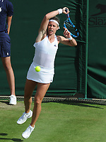 Tennis - 2019 Wimbledon Championships - Week One, Tuesday (Day Two)<br /> <br /> Women's Singles, 1st Round: Maria Sharapova (RUS) v Pauline Parmentier (FRA)<br /> <br /> Pauline Parmentier on Court 2<br /> <br /> COLORSPORT/ANDREW COWIE