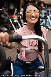 Kissa Von Adams at the Iron Horse Saloon during the 78th annual Sturgis Motorcycle Rally. Sturgis, SD. USA. Sunday August 5, 2018. Photography ©2018 Michael Lichter.