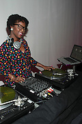 October 12, 2012-New York, NY: DJ Reborn at the Black Girls Rock! Shot Callers Dinner presented by BET Networks and sponsored by Chevy held at Espace on October 12, 2012 in New York City. BLACK GIRLS ROCK! Inc. is 501(c)3 non-profit youth empowerment and mentoring organization founded by DJ Beverly Bond, established to promote the arts for young women of color, as well as to encourage dialogue and analysis of the ways women of color are portrayed in the media. (Terrence Jennings)