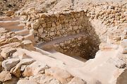 Israel, Dead Sea, Qumran A ritual bath, Mikvah