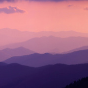 """Detail from the panoramic image """"The Great Smokey Mountains At Sunset From Clagman's Dome"""""""