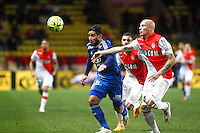 Nabil FEKIR / Andrea RAGGI - 01.02.2015 - Monaco / Lyon - 23eme journee de Ligue 1 -<br />