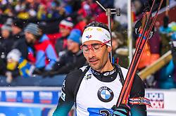 March 16, 2019 - –Stersund, Sweden - 190316 Martin Fourcade of France looks dejected after the Men's 4x7,5 km Relay during the IBU World Championships Biathlon on March 16, 2019 in Östersund..Photo: Petter Arvidson / BILDBYRÃ…N / kod PA / 92269 (Credit Image: © Petter Arvidson/Bildbyran via ZUMA Press)