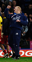 Photo: Daniel Hambury.<br />Crystal Palace v Watford. Coca Cola Championship. 31/03/2006.<br />Palace's manager Iain Dowie celebrates in his usual style.
