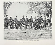 """General Ambrose E. Burnside, Commanding Ninth Corps from The American Civil War book and Grant album : """"art immortelles"""" : a portfolio of half-tone reproductions from rare and costly photographs designed to perpetuate the memory of General Ulysses S. Grant, depicting scenes and incidents in connection with the Civil War Published  in Boston and New York by W. H. Allen in 1894"""