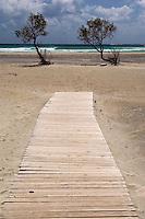 The beach in Elafonissi, Crete