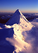 Spire of the Alaska Range southwest of Mount Foraker, Denali National Park, Alaska.