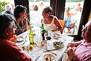 Vinnie Mazzoli, of Bonita Springs, from left, and his wife, Liz, enjoy dinner out with friends Roz and Jim Kallet, of Naples, at the Mangrove Cafe on Fifth Ave. South in Naples.