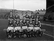 27/20/1954<br /> 02/27/1954<br /> 27 Feburary 1954<br /> Soccer: Bohemians F.C. v Albert Rovers F.C., FAI Cup game at Dalymount Park. The game ended in a draw.<br /> The Albert Rovers team.