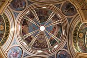 Israel, Haifa, the decorated ceiling at Stella Maris Carmelite Church, Mt. Carmel