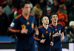 03.07.2010, Ellis Park, Johannesburg, RSA, FIFA WM 2010, Viertelfinale, Paraguay (PAR) vs Spanien (ESP), im Bild L'esultanza di David Villa (Spagna) per il gol dell'1-0  .David Villa 's celebration for his 1-0 leading goal scored for Spain. EXPA Pictures © 2010, PhotoCredit: EXPA/ InsideFoto/ Giorgio Perottino +++ for Austria and Slovenia only +++ / SPORTIDA PHOTO AGENCY