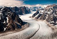 Ruth Glacier leads a path to Mt. Denali at Denali National Park in Alaska