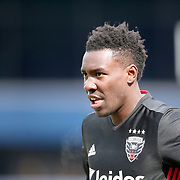 NEW YORK, NEW YORK - March 12:  Lloyd Sam #8 of D.C. United during the NYCFC Vs D.C. United regular season MLS game at Yankee Stadium on March 12, 2017 in New York City. (Photo by Tim Clayton/Corbis via Getty Images)