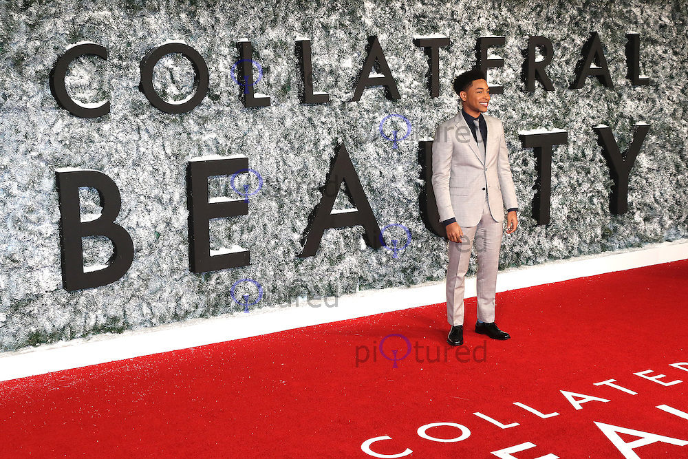 Jacob Latimore, Collateral Beauty - European film premiere, Leicester Square, London UK, 15 December 2016, Photo by Richard Goldschmidt