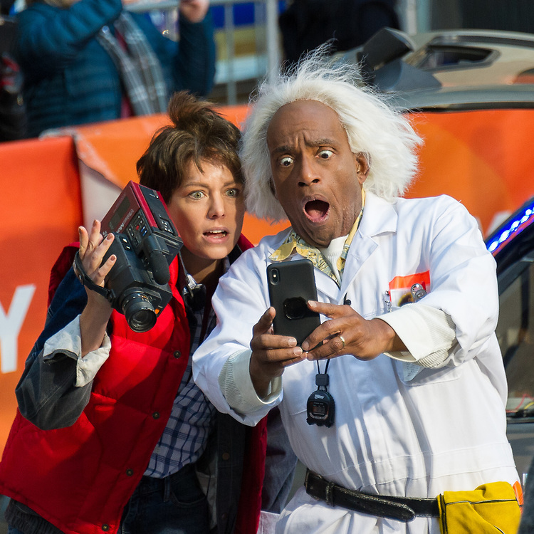 Dylan Dreyer and Al Roker dress up for NBC's Today Show Halloween celebration.