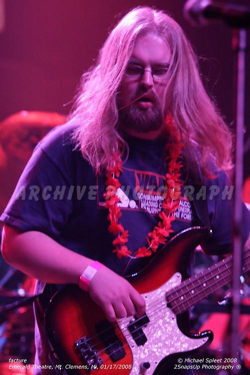 "MT. CLEMENS, MI, THURSDAY, JAN. 17, 2008: facture, Matt ""Hippie"" Hellebuyck at Emerald Theatre, Mt. Clemens, MI, 01/17/2008. (Image Credit: Michael Spleet / 2SnapsUp Photography)"