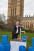 Lindsey Hoyle  MP.Marking World Water Day, over 40 MP's walked for water at Westminster, London at an event organised by WaterAid and Tearfund. Globally hundreds of thousands of people took part in the campaign to raise awareness of the world water crisis.