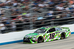 October 7, 2018 - Dover, DE, U.S. - DOVER, DE - OCTOBER 07: Kyle Busch driver of the #18 Interstate Batteries Toyota managed an 8th place finish in the Gander Outdoors 400 on October 07, 2018, at Dover International Speedway in Dover, DE. (Photo by David Hahn/Icon Sportswire) (Credit Image: © David Hahn/Icon SMI via ZUMA Press)