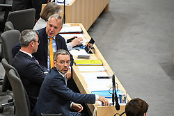 "27.05.2019, Hofburg, Wien, AUT, Sondersitzung des Nationalrates, Sitzung des Nationalrates aufgrund des Misstrauensantrags der Liste JETZT, FPOE und SPOE gegen Bundeskanzler Sebastian Kurz (OeVP) und die Bundesregierung, im Bild v.l. Walter Rosenkranz (FPÖ), Norbert Hofer (FPÖ), Herbert Kickl (FPÖ) // during special meeting of the National Council of austria due to the topic ""motion of censure against the federal chancellor Sebastian Kurz (OeVP) and the federal government"" at the Hofburg in Wien, Australia on 2019/05/27. EXPA Pictures © 2019, PhotoCredit: EXPA/ Lukas Huter"