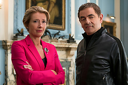 Emma Thompson as Prime Minister and Rowan Atkinson as Johnny English star in JOHNNY ENGLISH STRIKES AGAIN, a Focus Features release.