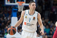 Real Madrid Fabien Causeur during Turkish Airlines Euroleague match between Real Madrid and Baskonia Vitoria at Wizink Center in Madrid, Spain. January 17, 2018. (ALTERPHOTOS/Borja B.Hojas)