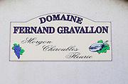 Domaine Fernand Gravallon. Morgon, Beaujolais, France