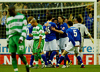 Fotball<br /> England 2004/2005<br /> Foto: BPI/Digitalsport<br /> NORWAY ONLY<br /> <br /> Leicester City v Queens Park Rangers<br /> Coca Cola Championship<br /> 03/01/2005<br /> <br /> David Connolly of Leicester celebrates putting his team 1-0 up from the penalty spot.