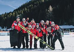 15.02.2020, Kulm, Bad Mitterndorf, AUT, FIS Ski Flug Weltcup, Kulm, Herren, Siegerehrung, im Bild Teamfoto, Stefan Kraft (AUT) // Teampicture Stefan Kraft of Austria during the winner ceremony for the men's FIS Ski Flying World Cup at the Kulm in Bad Mitterndorf, Austria on 2020/02/15. EXPA Pictures © 2020, PhotoCredit: EXPA/ JFK