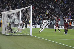May 3, 2019 - Turin, Piedmont, Italy - Cristiano Ronaldo (Juventus FC)celebrates after scoring during the Serie A football match between Juventus FC and Torino FC at Allianz Stadium on May 03, 2019 in Turin, Italy..Final results: 1-1. (Credit Image: © Massimiliano Ferraro/NurPhoto via ZUMA Press)