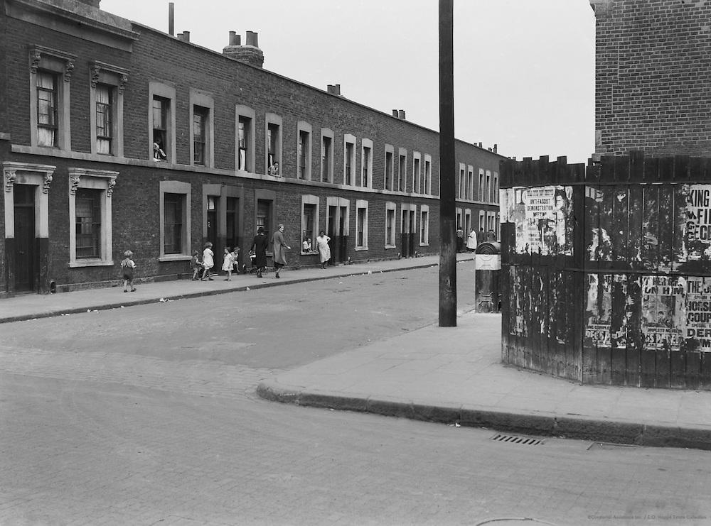 East End Slums Near Docks, London, 1934