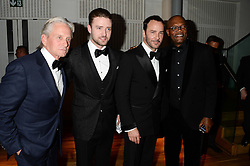 Left to right, MICHAEL DOUGLAS, JUSTIN TIMBERLAKE, TOM FORD and SAMUEL L JACKSON at the GQ Men of The Year Awards 2013 in association with Hugo Boss held at the Royal Opera House, London on 3rd September 2013.