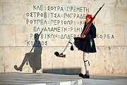 Routine changing of the Guard outside Greek Parliment Building in Athens, Greece