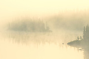 Morning fog on Walker Lake<br /> Near Schreiber<br /> Ontario<br /> Canada