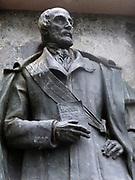 Giuseppe Mazzini Statue near the Rialto Bridge in Venice 2013.