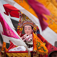 A Mazu icon in the parade. <br /> <br /> A recent survey estimates that more than 417 million people in China practice folk religion. This number is 50 million more people than the adherents of Buddhism, Christianity, Taoism, Confucianism and Islam combined.