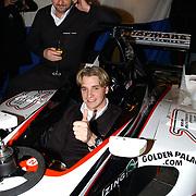 Presentatie Christian Albers als Formule 1 coureur bij het team van Minardi