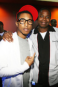 l to r: Pharrell and Dougie Fresh at Common's Start the Show n' Bowl benefiting The Common Ground Foundation held at Hotel Sax on September 26, 2008 in Chicago, IL