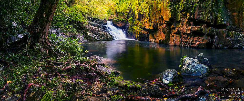 A Fine Art Photographic Print of a rainforest waterfall and creek, Far North Queensland.<br /> <br /> Limited Edition of 125